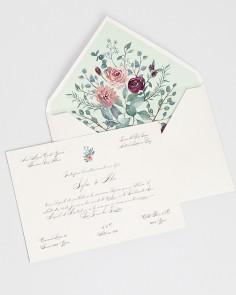 """Carte """"Eucalyptus et Roses II"""""""