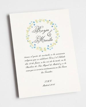 """FAIRE-PART DE MARIAGE """"HIVER"""""""