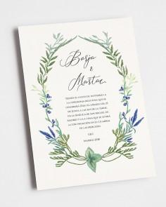 invitación de boda jacintos silvestres