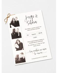 Invitación de boda Fotomatón