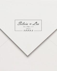 sello code postal de caucho